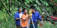 Field operatives working together for a Micro-Hydro survey.